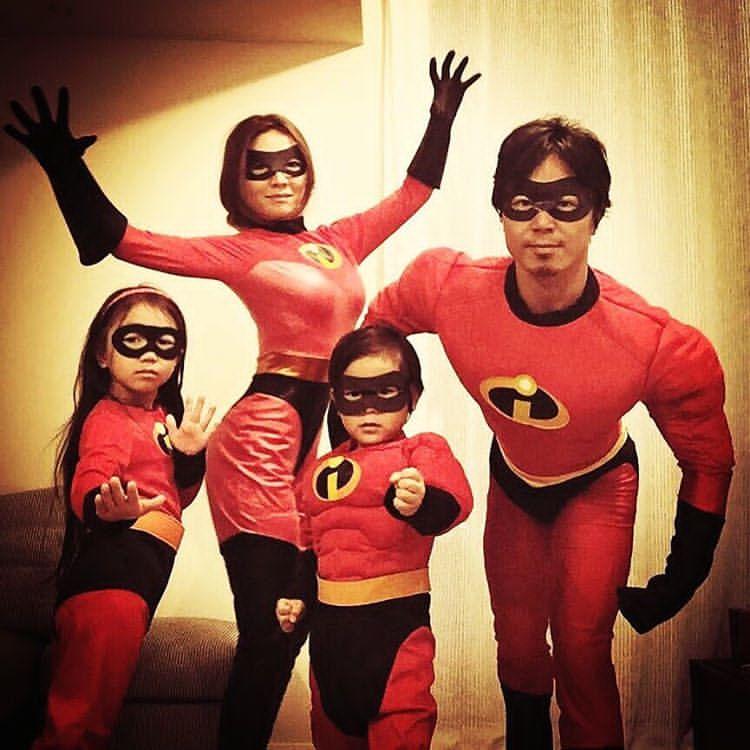 山本明子と家族の画像