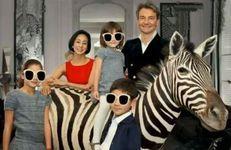 中村江里子と家族の画像