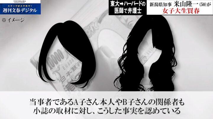 米山隆一と女子大生画像